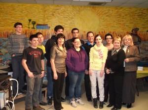 Journée de la persévérance scolaire, à l'école secondaire de l'Odyssée Lafontaine / Dominique-Racine, Chicoutimi, le lundi 13 février 2012