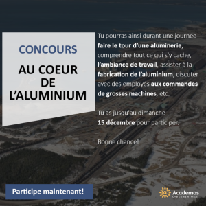 concours academos alcoa au coeur de l'aluminium